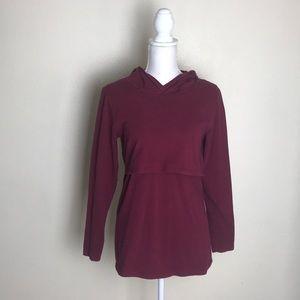 Tops - Nursing shirt   burgundy Shirt   long sleeve shirt